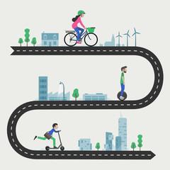 Micro-mobilité : Trottinette électrique, gyropode, mono-roue