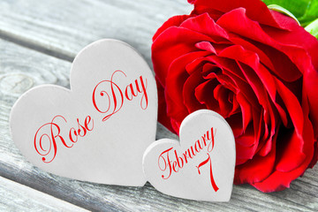 German: Rose Day and February 7