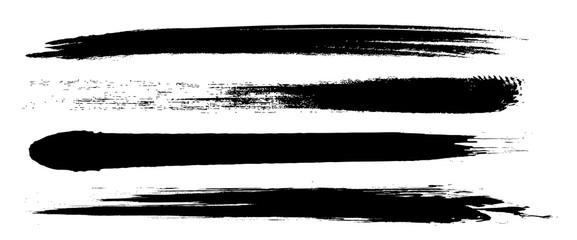 Foto auf Gartenposter Abstrakte Welle アナログタッチ素材:筆の質感 墨 インク 筆模様 波模様
