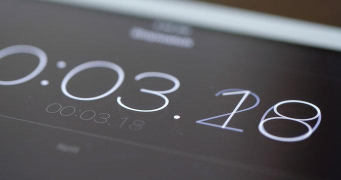 Digital timer counter on tablet