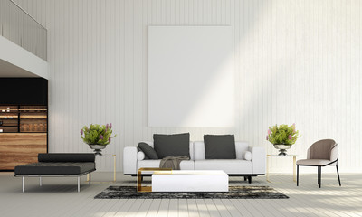 Modern luxury white living room interior design and wall texture background