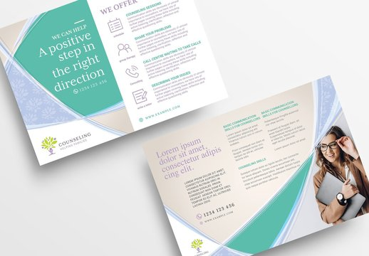 Business Flyer Layout for Counseling and Mental Health Services