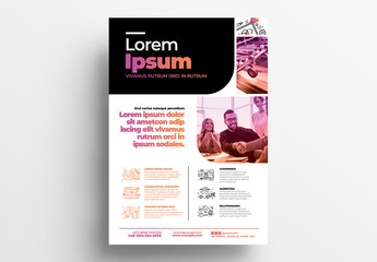 Business Poster Layout for Creative Agencies