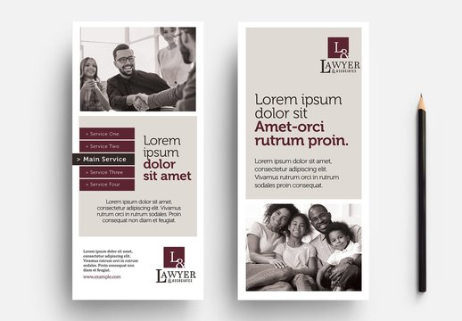 Thin Flyer Layout for Law Firms, Lawyers and Legal Services