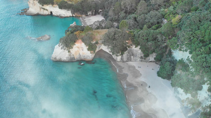 Printed roller blinds Cathedral Cove Aerial view of Cathedral Cove in New Zealand