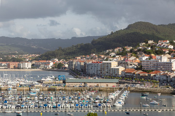 Baiona from the castle, Galicia, Spain