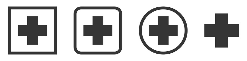 Set of Medical vector symbols isolated.