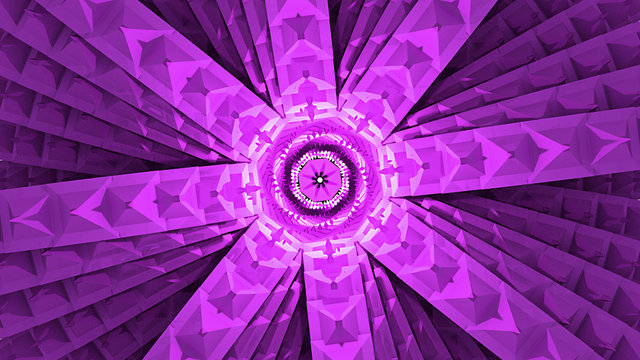 Amazing purple architecture stacked dmt concept looking into the eye