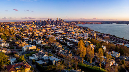 Seattle Drone Pano