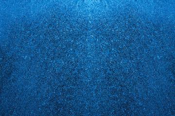 blue color frozen snowflakes winter window background