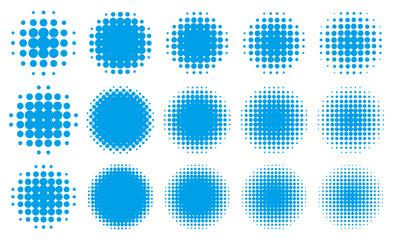 円形の網点グラデーション・セット