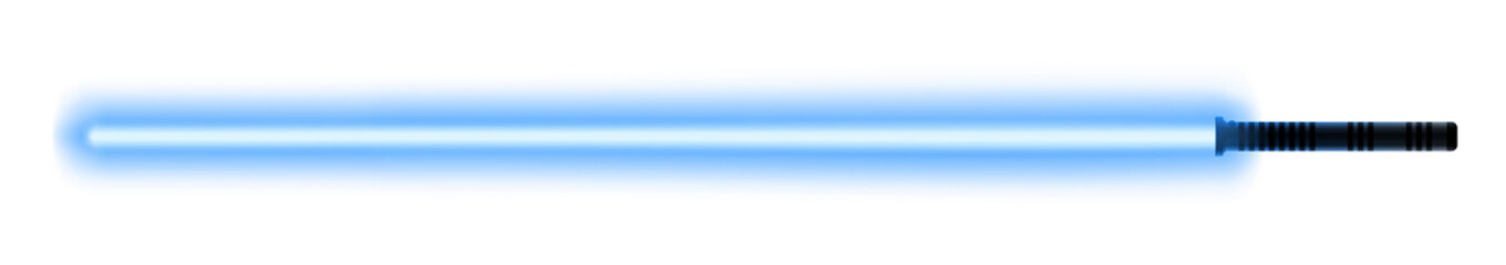 Blue light sword for the fights during the wars in the stars. Melee laser weapon for the close combats.