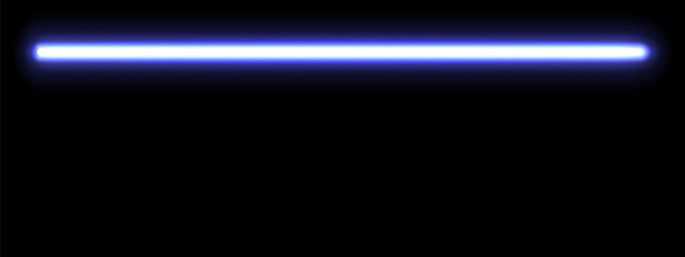 Web banner with a blue glowing neon lamp