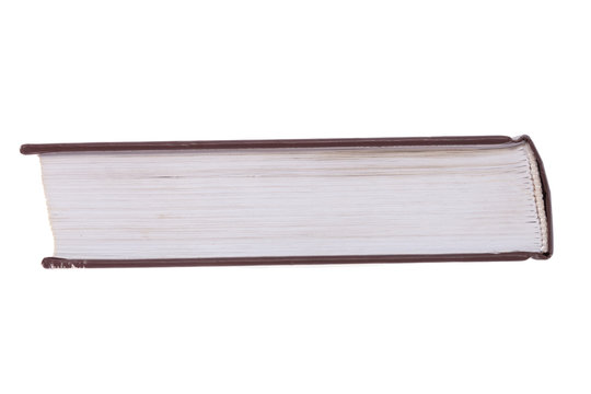 book side view. isolated on a white background. template for designer