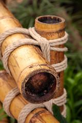 Attache de bambous avec corde