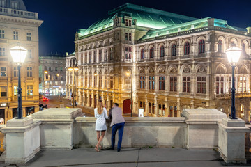couple on the balcony of albertina enjoy the view