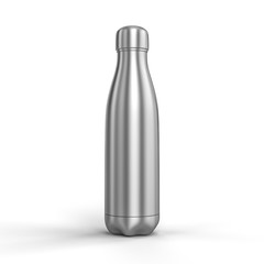 3d render image of a thermal stainless steel bottle.