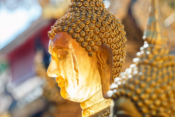 Printed kitchen splashbacks Buddha Golden Buddha statue in the sun of Wat Phrahat Doi Suthep temple. The most important temple in Chiang Mai, Thailand.