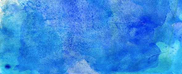 blue aqua watercolour abstract grunge  background