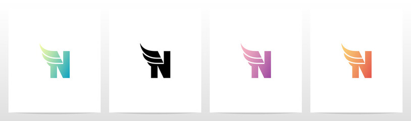 Small Wing On Letter Logo Design N