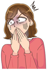 女性 ショック 衝撃 ストレス
