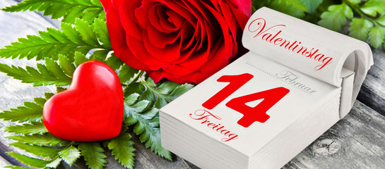 German: Valentines Day Friday February 14