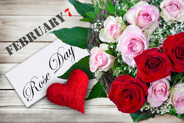 Red Heart Rose Day February 7