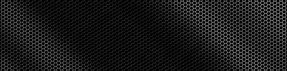Door stickers Metal Hexagonal metal grid texture - background