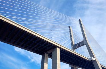 The Vasco da Gama Bridge. Lisbon, Portugal.