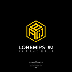 Logo Design Letter BAI Linear Polygonal Monogram
