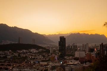 Poster de jardin Arizona Sunset view in Monterrey Mexico
