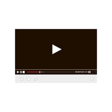 Mockup of desktop web video player