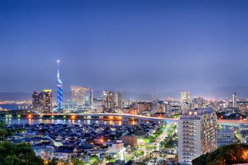 Fukuoka city in south Japan