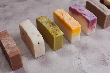 Organic soap with natural components and oils