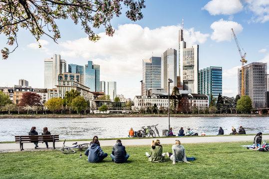 Frankfurt am Main im Frühling, Deutschland,