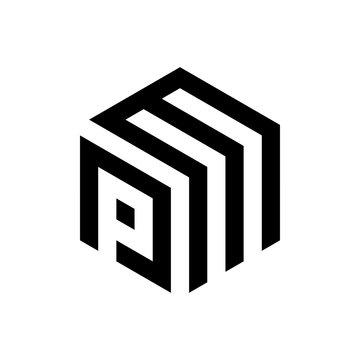 PM letter logo vektor icon template