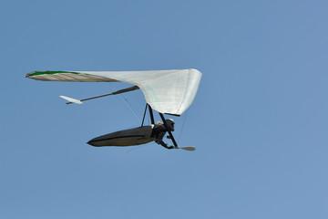 Hang glider pilot silhouette.