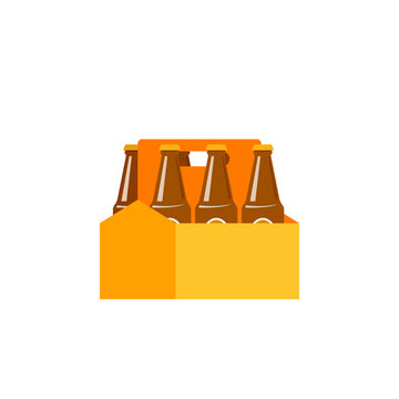 Beer 6 pack icon. Clipart image isolated on white background