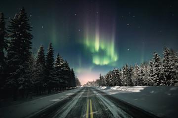 Foto op Plexiglas Noorderlicht The Road to North
