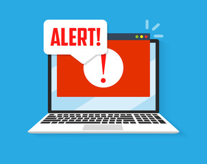 Spamming attack. Email fraud alert concept. - fototapety na wymiar