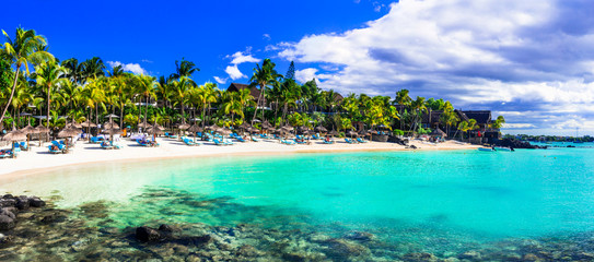 Perfect tropical getaway - stunning Mauritius island with great beaches and turquoise sea