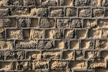 Weathered Stone Brick Fort Wall Background