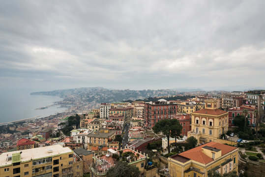 Naples city, Naples bay (Napoli bay), Italy