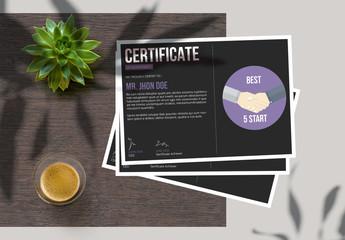Minimal Certificate Layout