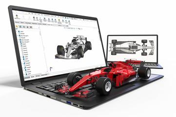 3D printing of a formula one car.