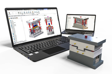 Mold design with 3D software
