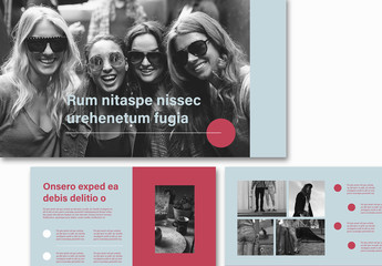 Red and Teal Portfolio Presentation Layout