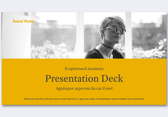 Yellow and Gray Pitch Deck Layout