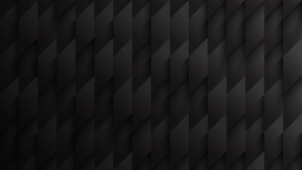 3D Parallelogram Blocks Conceptual Tech Dark Gray Abstract Background. Science Technology Three Dimensional Rhombus Structure Sci-Fi Darkness Wallpaper High Definition. Clear Blank Subtle Backdrop
