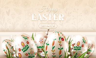 Modern Easter folk banner
